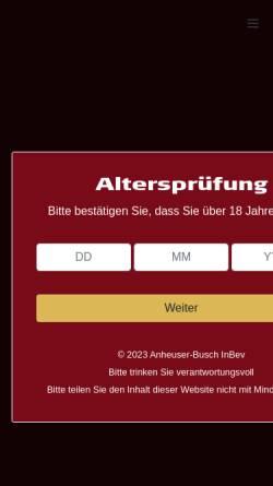 Vorschau der mobilen Webseite www.hasseroeder.de, Hasseröder Brauerei GmbH