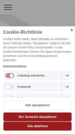 Vorschau der mobilen Webseite www.hansarecht.de, Bolfeld & Fuhr