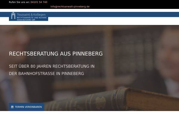 Vorschau von www.rechtsanwalt-pinneberg.de, KANZLEI AM AMTSGERICHT