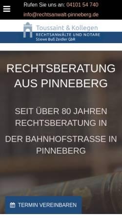 Vorschau der mobilen Webseite www.rechtsanwalt-pinneberg.de, KANZLEI AM AMTSGERICHT