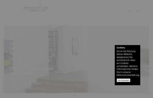 Vorschau von bernhardknaus.com, Bernhard Knaus Fine Art GmbH
