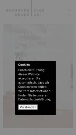 Vorschau der mobilen Webseite bernhardknaus.com, Bernhard Knaus Fine Art GmbH