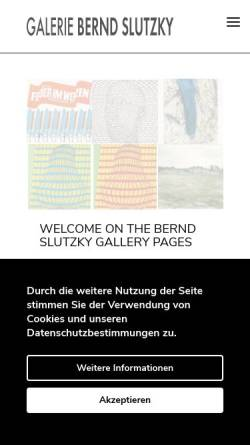 Vorschau der mobilen Webseite www.galerie-slutzky.de, Galerie Bernd Slutzky