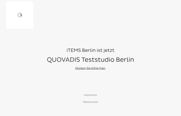 Vorschau von www.items-berlin.de, Items Studio für qualitative Marktforschung Berlin GmbH