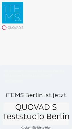 Vorschau der mobilen Webseite www.items-berlin.de, Items Studio für qualitative Marktforschung Berlin GmbH