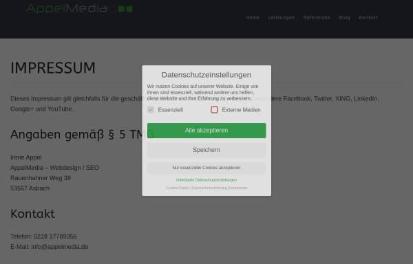 Vorschau von www.appelmedia.de, AppelMedia