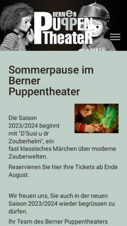 Vorschau der mobilen Webseite www.berner-puppentheater.ch, Puppenbühne Monika Demenga und Hans Wirth