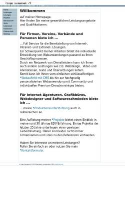 Vorschau der mobilen Webseite www.symannek.de, Symannek Ingo
