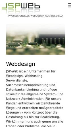 Vorschau der mobilen Webseite www.jsp-web.de, JSPweb - Stefan Pump