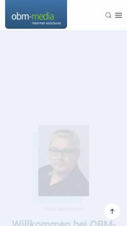 Vorschau der mobilen Webseite www.obm-media.de, OBM-Media e.K., Inh. Stefan Oberbiermann