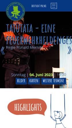 Vorschau der mobilen Webseite www.theaterdeslachens.de, Theater des Lachens, Puppen- und Schauspiel e.V.