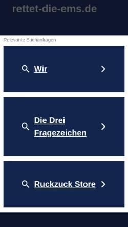 Vorschau der mobilen Webseite www.rettet-die-ems.de, Bürgerinitiative Interessengemeinschaft Ems
