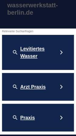 Vorschau der mobilen Webseite www.wasserwerkstatt-berlin.de, Wasserwerkstatt-Berlin, Inh. Ingrid Pfistner