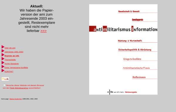 Vorschau von www.antimilitarismus-information.de, antimilitarismus information
