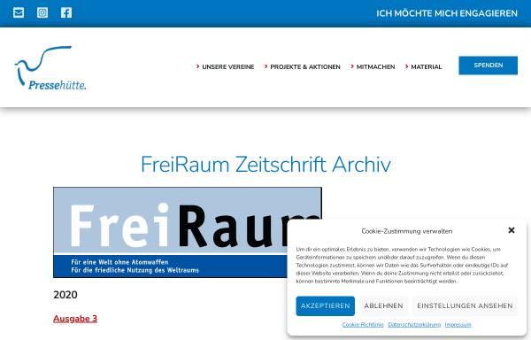 Vorschau von www.pressehuette.de, Freiraum