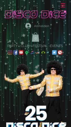 Vorschau der mobilen Webseite www.discodice.de, Disco Dice