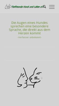 Vorschau der mobilen Webseite www.tierheim-hund.de, Kampfteddy
