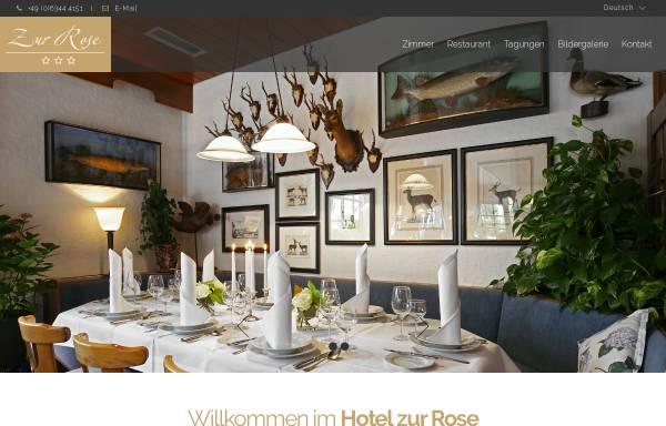 Vorschau von www.hotel-zur-rose.com, Hotel Restaurant Zur Rose