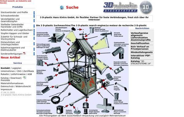 Vorschau von www.3d-plastic.de, 3 D-plastic Hans Kintra GmbH