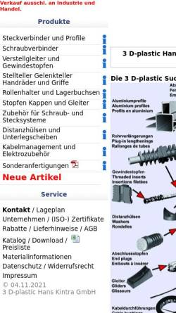 Vorschau der mobilen Webseite www.3d-plastic.de, 3 D-plastic Hans Kintra GmbH