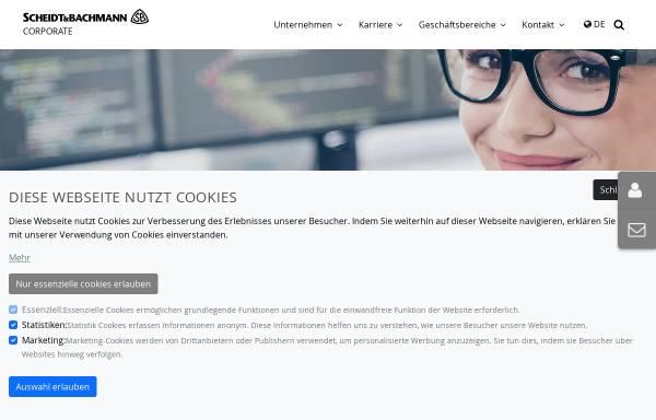 Vorschau von www.scheidt-bachmann.de, Scheidt & Bachmann GmbH
