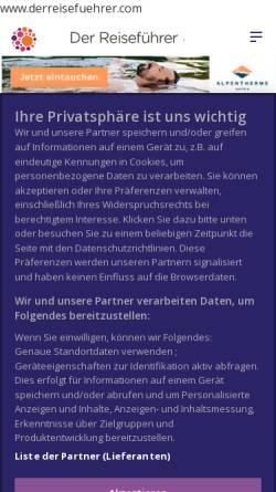 Vorschau der mobilen Webseite www.derreisefuehrer.com, DerReisefuehrer.com