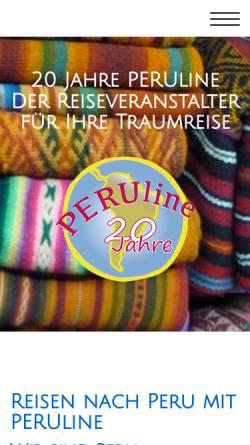 Vorschau der mobilen Webseite www.peruline.de, Peru auf einen Blick