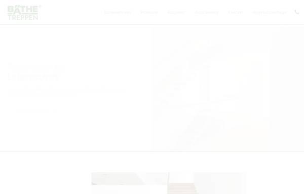 Vorschau von www.baethe.de, Eberhard Bäthe, Treppenbau