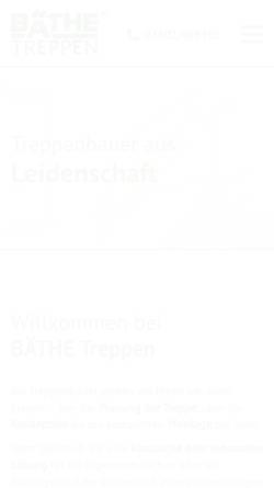 Vorschau der mobilen Webseite www.baethe.de, Eberhard Bäthe, Treppenbau