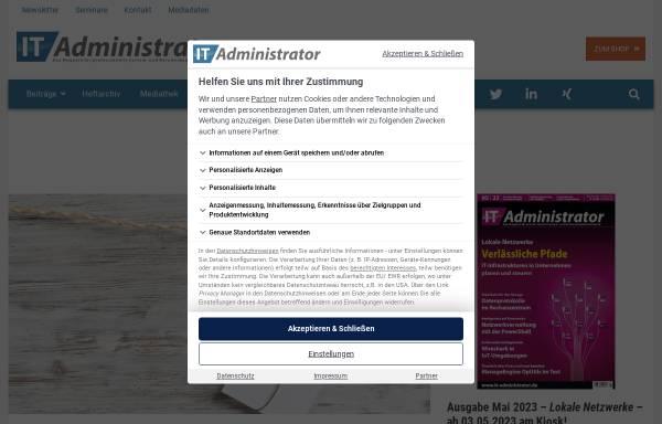 Vorschau von www.it-administrator.de, IT-Administrator