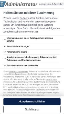 Vorschau der mobilen Webseite www.it-administrator.de, IT-Administrator