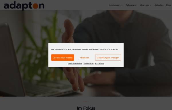 Vorschau von www.adapton.de, Adapton Energieysteme AG