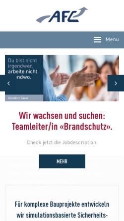 Vorschau der mobilen Webseite www.afc.ch, Air Flow Consulting AG