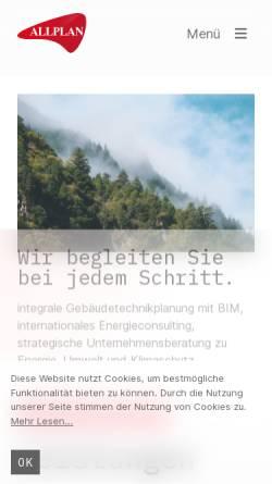 Vorschau der mobilen Webseite www.allplan.at, Allplan GmbH