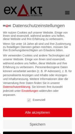 Vorschau der mobilen Webseite www.exakt.org, EXAKT-Repro