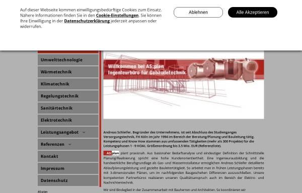 Vorschau von www.as-plan-gebaeudetechnik.de, Schleifer, Andreas