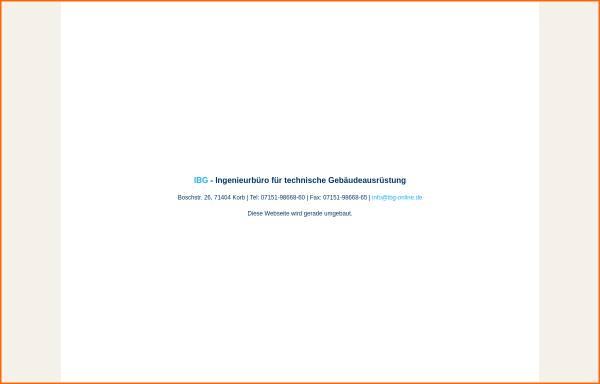 Vorschau von www.ibg-online.de, Bachmann, Werner; Gedinia, Dieter - Bachmann & Gedinia GbR