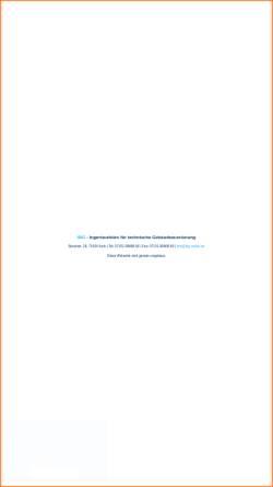 Vorschau der mobilen Webseite www.ibg-online.de, Bachmann, Werner; Gedinia, Dieter - Bachmann & Gedinia GbR