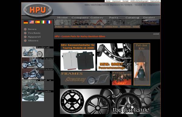 Vorschau von www.hpu.biz, HPU Motorcycle Products GmbH