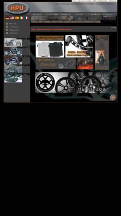 Vorschau der mobilen Webseite www.hpu.biz, HPU Motorcycle Products GmbH