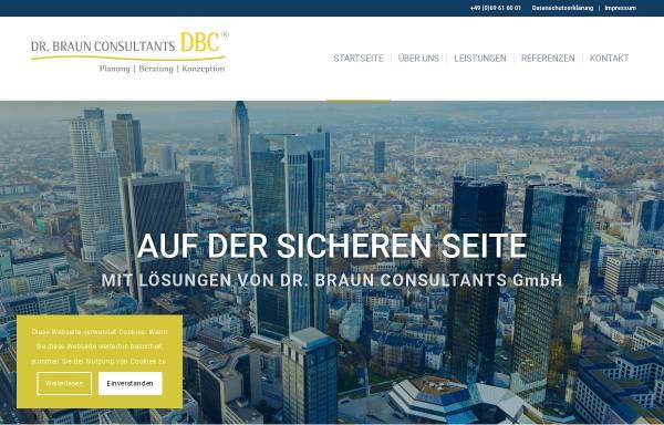 Vorschau von www.dr-braun.net, Dr. Braun Consultants GmbH