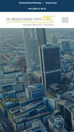 Vorschau der mobilen Webseite www.dr-braun.net, Dr. Braun Consultants GmbH