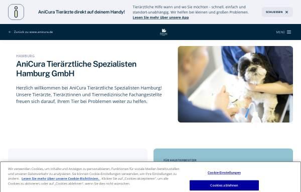 Vorschau von www.tsh.de, Tierärztliche Spezialisten Hamburg, Dr. Jens Linek
