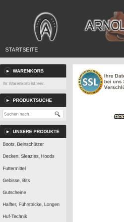 Vorschau der mobilen Webseite www.arnold-proshop.de, Arnold-Pro Shop