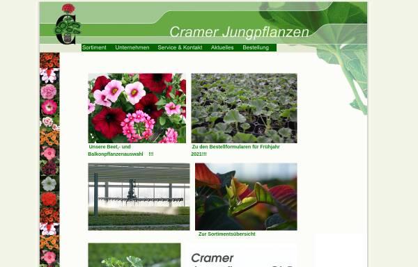 Vorschau von www.cramer-jungpflanzen.de, Cramer Jungpflanzen, Bad Salzuflen