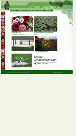 Vorschau der mobilen Webseite www.cramer-jungpflanzen.de, Cramer Jungpflanzen, Bad Salzuflen