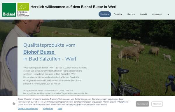 Vorschau von www.hof-busse.de, E. und D. Busse