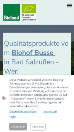 Vorschau der mobilen Webseite www.hof-busse.de, E. und D. Busse