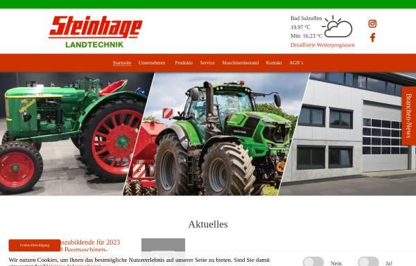 Vorschau von www.steinhage-landtechnik.de, Steinhage Landtechnik