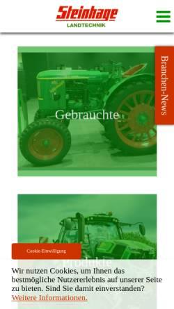 Vorschau der mobilen Webseite www.steinhage-landtechnik.de, Steinhage Landtechnik